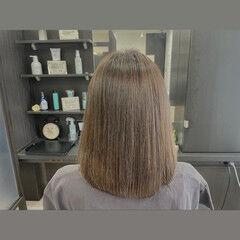 ミディアム 髪質改善 髪質改善カラー 髪質改善トリートメント ヘアスタイルや髪型の写真・画像