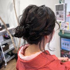 ナチュラル ヘアアレンジ ボブ 和装ヘア ヘアスタイルや髪型の写真・画像