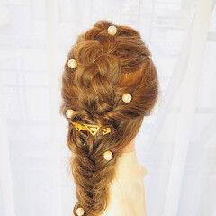 ナチュラル ロング フィッシュボーン ヘアスタイルや髪型の写真・画像