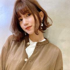 大人ショート ショート ワンレン フェミニン ヘアスタイルや髪型の写真・画像
