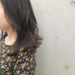 透明感 ブリーチなし 透明感カラー ナチュラル ヘアスタイルや髪型の写真・画像