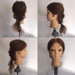 ねじり パーティ フェミニン 結婚式 ヘアスタイルや髪型の写真・画像