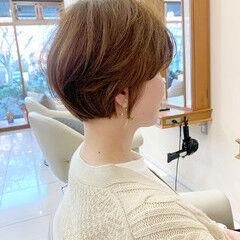 ハンサムショート マッシュショート ショートボブ ナチュラル ヘアスタイルや髪型の写真・画像