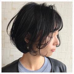 アンニュイ ナチュラル ゆるふわ ショートボブ ヘアスタイルや髪型の写真・画像