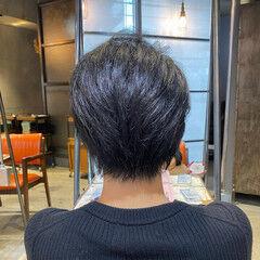 前下がりショート ハンサムショート 透明感 oggiotto ヘアスタイルや髪型の写真・画像