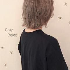 レイヤーボブ ハイトーンカラー ウルフカット ボブ ヘアスタイルや髪型の写真・画像