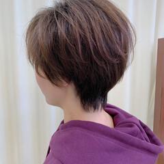 ショートボブ ミニボブ 耳掛けショート ショート ヘアスタイルや髪型の写真・画像