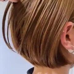 ショートボブ ボブ グレージュ ヌーディベージュ ヘアスタイルや髪型の写真・画像