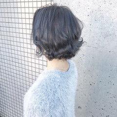ショート アディクシーカラー エレガント 大人ハイライト ヘアスタイルや髪型の写真・画像