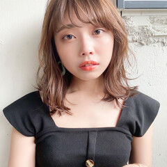 縮毛矯正ストカール デジタルパーマ ミディアム ナチュラル ヘアスタイルや髪型の写真・画像
