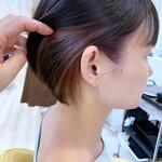 ショート インナーカラー ナチュラル ショートヘア