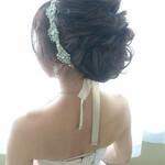 外国人風 上品 セミロング 結婚式