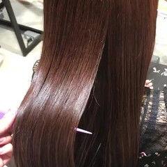 トリートメント クリスマス 髪質改善トリートメント ピンク ヘアスタイルや髪型の写真・画像