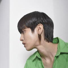 マッシュウルフ ショートボブ ナチュラル 大人ショート ヘアスタイルや髪型の写真・画像