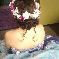 ブライダル ロング ゆるふわ ドレス ヘアスタイルや髪型の写真・画像