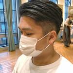 簡単スタイリング 刈り上げ ショート メンズヘア