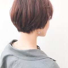 丸みショート コンサバ デート 横顔美人 ヘアスタイルや髪型の写真・画像