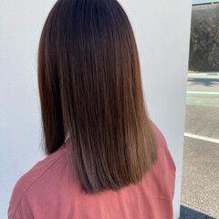 バイオレット ベージュ ロング N.オイル ヘアスタイルや髪型の写真・画像