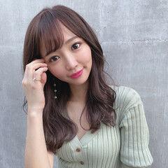 前髪 フェミニン 地毛風カラー 韓国ヘア ヘアスタイルや髪型の写真・画像