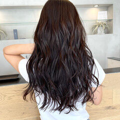 暗髪女子 ナチュラル セミロング 艶髪 ヘアスタイルや髪型の写真・画像