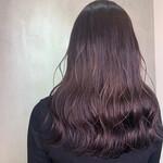透明感カラー バイオレットカラー ロング ウェットヘア