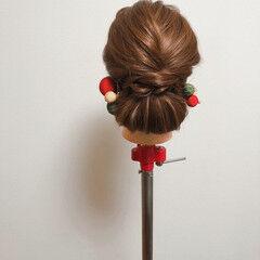 和装髪型 アップ ブライダル セミロング ヘアスタイルや髪型の写真・画像