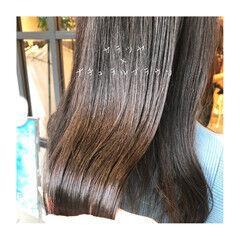 ブリーチなし セミロング ナチュラルブラウンカラー ブラウン ヘアスタイルや髪型の写真・画像