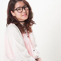 ガーリー ロング ピンク カール ヘアスタイルや髪型の写真・画像