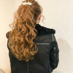 ロング フェミニン ヘアセット ヘアアレンジ ヘアスタイルや髪型の写真・画像