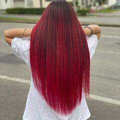 赤髪 ロング ストリート 外人ヘア ヘアスタイルや髪型の写真・画像