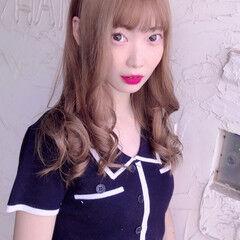 ロング アッシュグレージュ 外国人風カラー 韓国風ヘアー ヘアスタイルや髪型の写真・画像