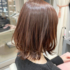 ボブ 銀座美容室 レイヤーカット 切りっぱなしボブ ヘアスタイルや髪型の写真・画像