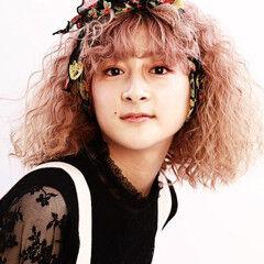 モード ヘアアレンジ ボブ ソバージュ ヘアスタイルや髪型の写真・画像