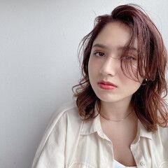 オールバック シースルーバング レイヤースタイル ナチュラル ヘアスタイルや髪型の写真・画像