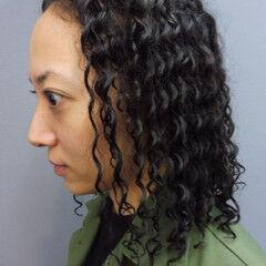 黒髪 スパイラルパーマ ストリート ボブ ヘアスタイルや髪型の写真・画像