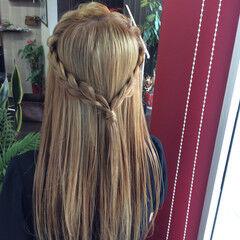 外国人風 ベージュカラー ロング ガーリー ヘアスタイルや髪型の写真・画像