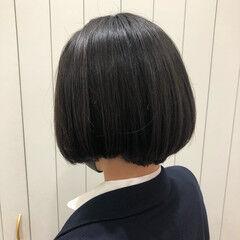 ミニボブ ボブ ショートボブ ナチュラル ヘアスタイルや髪型の写真・画像