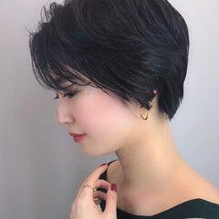 大人かわいい ショート パーマ アンニュイほつれヘア ヘアスタイルや髪型の写真・画像