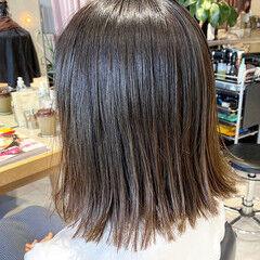 前髪あり グレージュ 似合わせカット ボブ ヘアスタイルや髪型の写真・画像