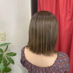 マットグレージュ マット ナチュラル 縮毛矯正 ヘアスタイルや髪型の写真・画像