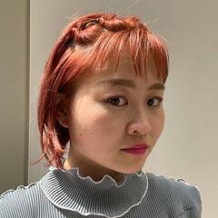 ボブ 簡単ヘアアレンジ ナチュラル ボブアレンジ ヘアスタイルや髪型の写真・画像