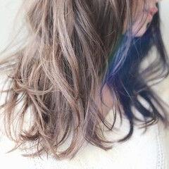 イルミナカラー ゆるふわ 透明感 ナチュラル ヘアスタイルや髪型の写真・画像