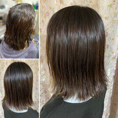 髪質改善カラー コンサバ ショート 髪質改善トリートメント ヘアスタイルや髪型の写真・画像