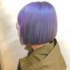 グラデーションカラー ハイトーンボブ ミニボブ ボブ ヘアスタイルや髪型の写真・画像