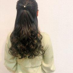 ヘアアレンジ 結婚式 リボン ハーフアップ ヘアスタイルや髪型の写真・画像