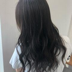 透け感アッシュ アッシュベージュ ベージュ 透け感ヘア ヘアスタイルや髪型の写真・画像