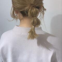 ヘアアレンジ 韓国ヘア フェミニン トレンド ヘアスタイルや髪型の写真・画像