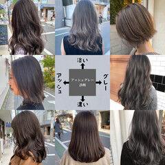 アッシュ ミルクティーグレージュ アッシュグレージュ アッシュグレー ヘアスタイルや髪型の写真・画像