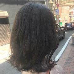 グレージュ オリーブアッシュ ボブ カーキアッシュ ヘアスタイルや髪型の写真・画像