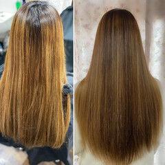 髪質改善トリートメント 最新トリートメント エレガント ロング ヘアスタイルや髪型の写真・画像